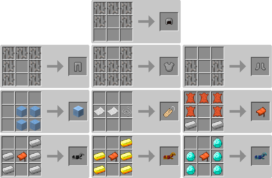 Minecraft How To Craft A Horse Armor